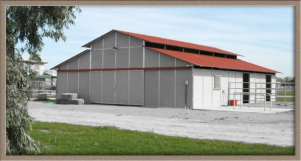 Horse stall, horse stalls, Horse barn, Barn, Raised Center aisle barn, Barn kit, show barn design