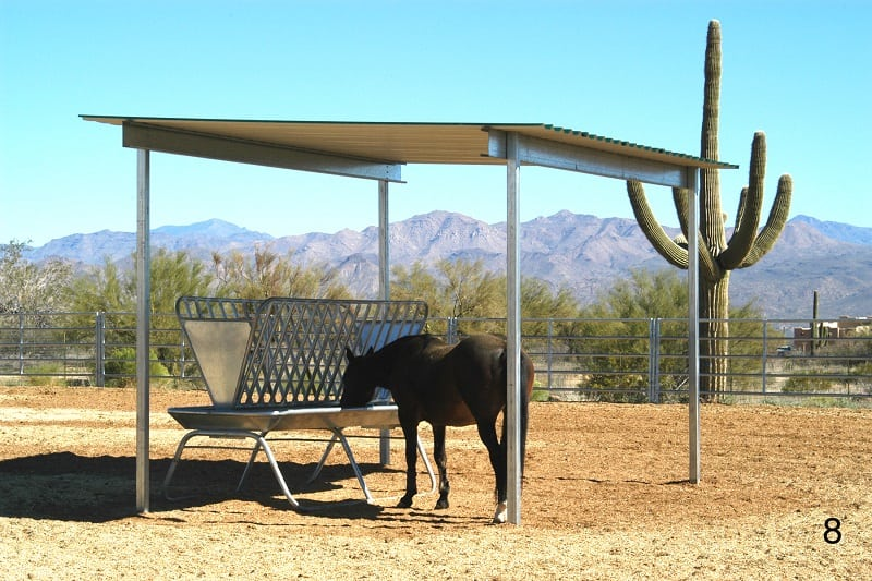 Hose shade, summer shade for horses, free stand shade Horse shade covers
