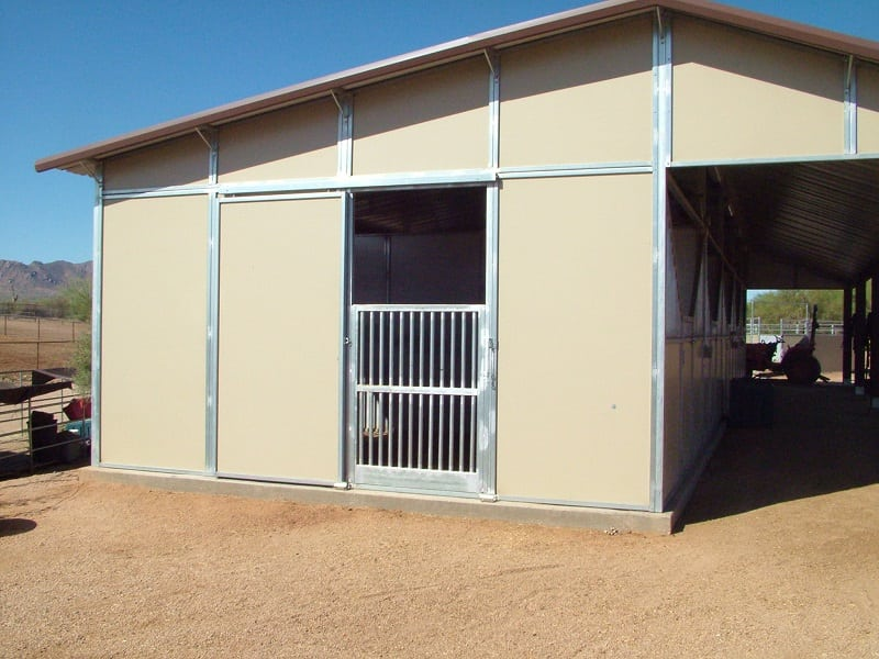 4'x8' full open door with vertical barn insert all steel galvanized frame with embossed inserts.