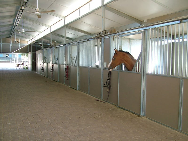 Horse stall fronts, stall fronts with slide door, customer stall fronts, front stall panels, steel stall fronts