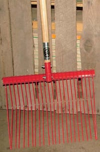 FINE MISSY,manure fork, metal manure fork, apple picker, missy apple picker, missy rake, stable fork