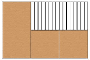 barn wall options, solid wall barn opitions, barn walls, barn divider, solid barn wall divider, stall front