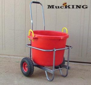 muck cart, heavy duty muck cart, horse cart, barn cart, bucket cart