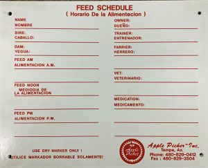 feeding schedule, schedule, cattle schesdule