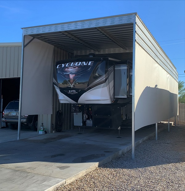 Front 20'x 52' RV cover