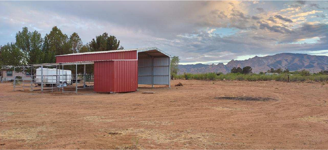RV with horse stalls red walls